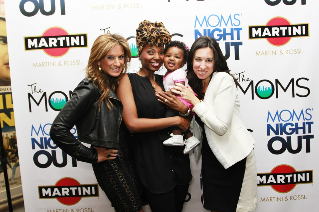 "#MNOMamarazzi at The Sony Screening Room - Me with my daughter Zuri, and ""The Moms"", Denise Albert & Melissa Musen Gerstein"