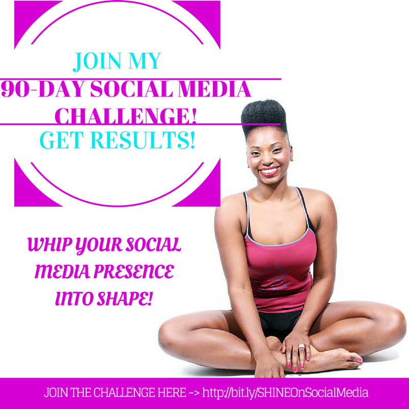 I've created this 90-Day Social Media Success Challenge to help you breathe new life into your online brand, and start to truly SHINE on social media, and start getting REAL RESULTS!