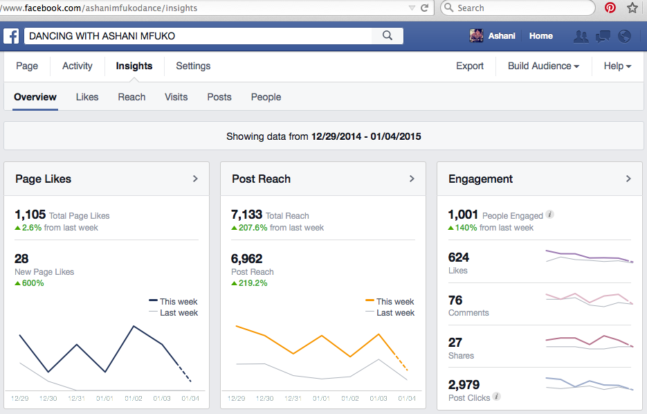 Ashani Mfuko Facebook Fan Page Insights