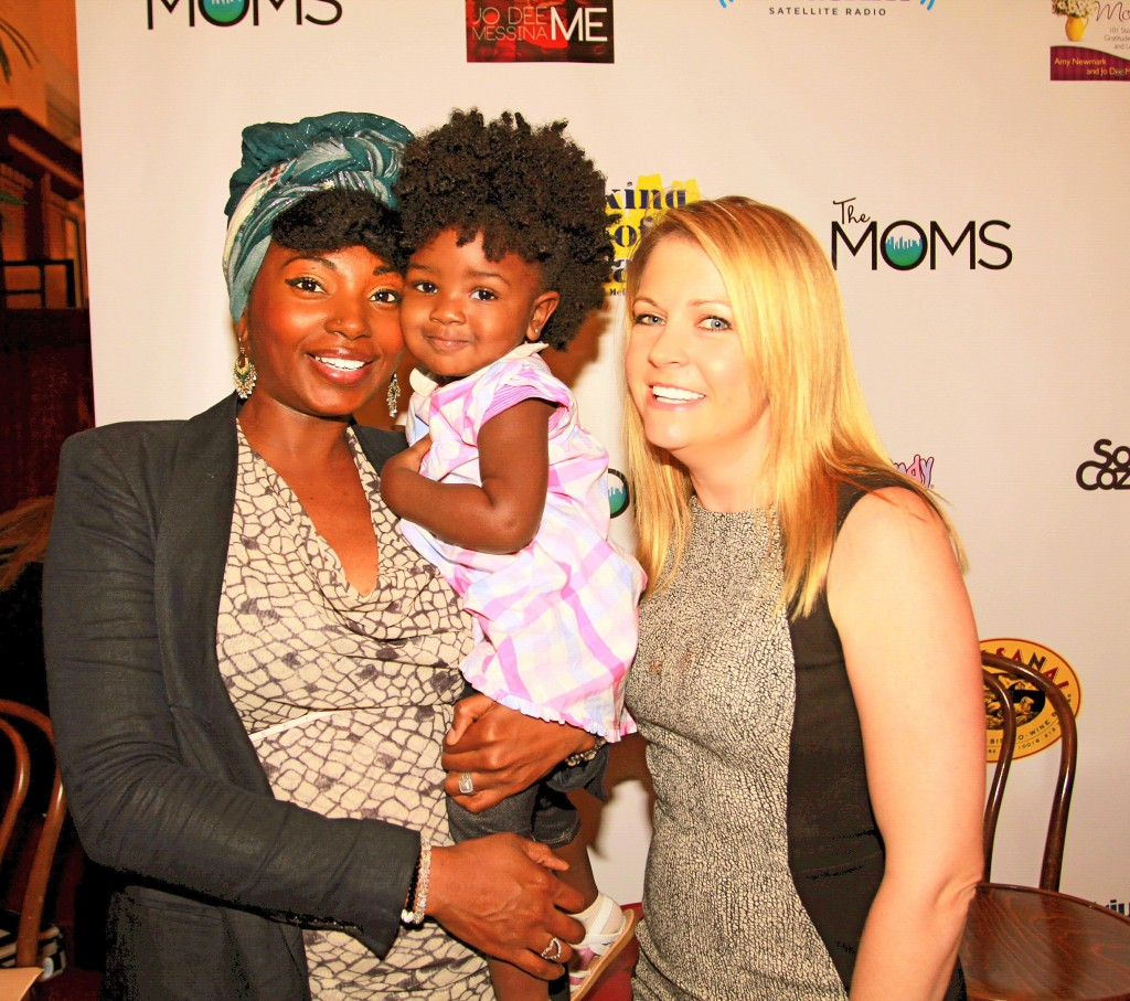 The MOMS Mother's Day Mamarazzi® Celebration - My daughter Zuri and I, with Melissa Joan Hart, Award-Winning Actress, and Creator of King Of Harts Kids  Photo Credit: Mission 101 Media