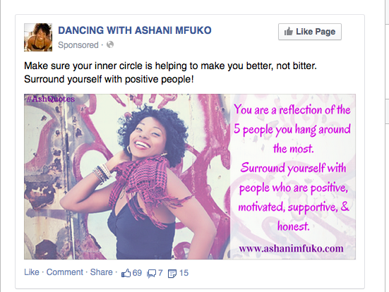 Ashani Mfuko Facebook Quote