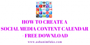How To Create A Social Media Content Calendar