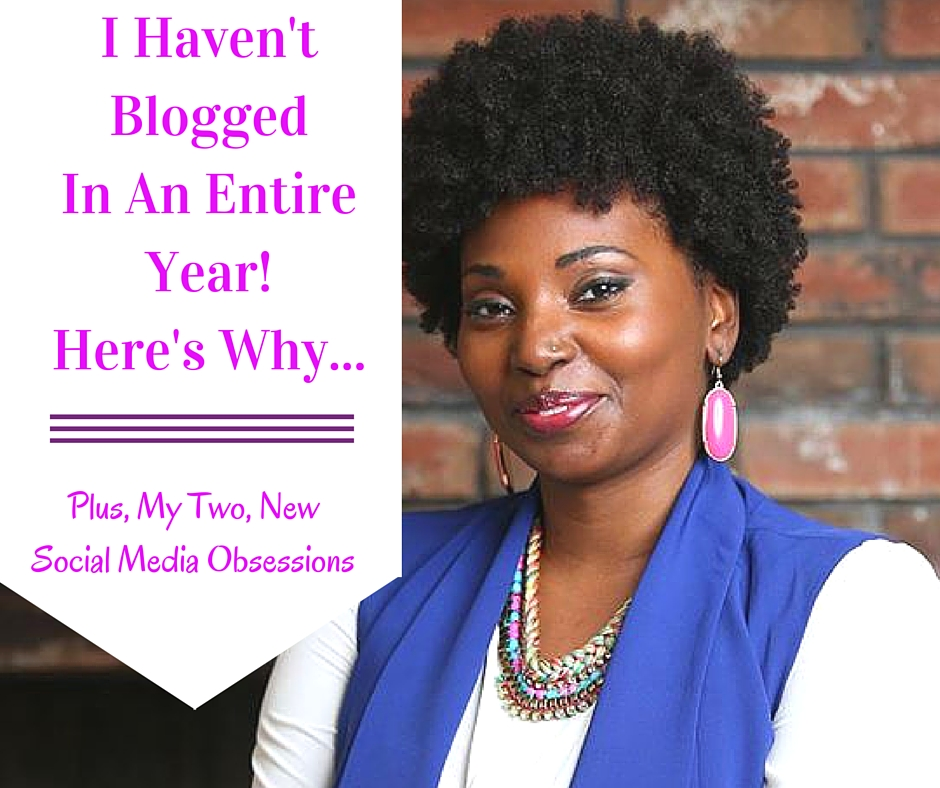 Ashani Mfuko's Blog Update 2016 - I Haven't Blogged In A Year! Here's Why...