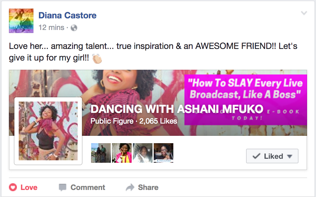 Ashani Mfuko Facebook Fan Shout Out