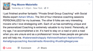 Small Group Coaching with Ashani Mfuko Testimonial