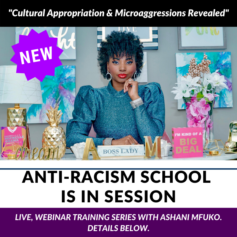 Ashani Mfuko Anti-Racism School Is In Session™