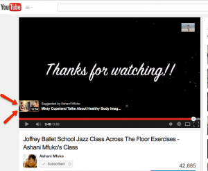 This is how your featured video looks while someone is watching your video on YouTube