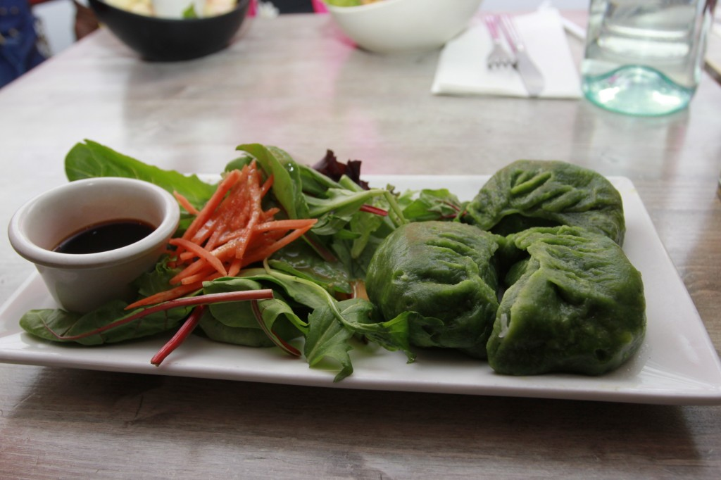 Vegan dumplings from Red Bamboo