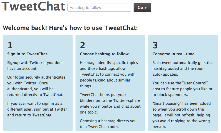 How To Use Tweetchat.com
