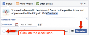 How To Schedule Updates on Your Facebook Page