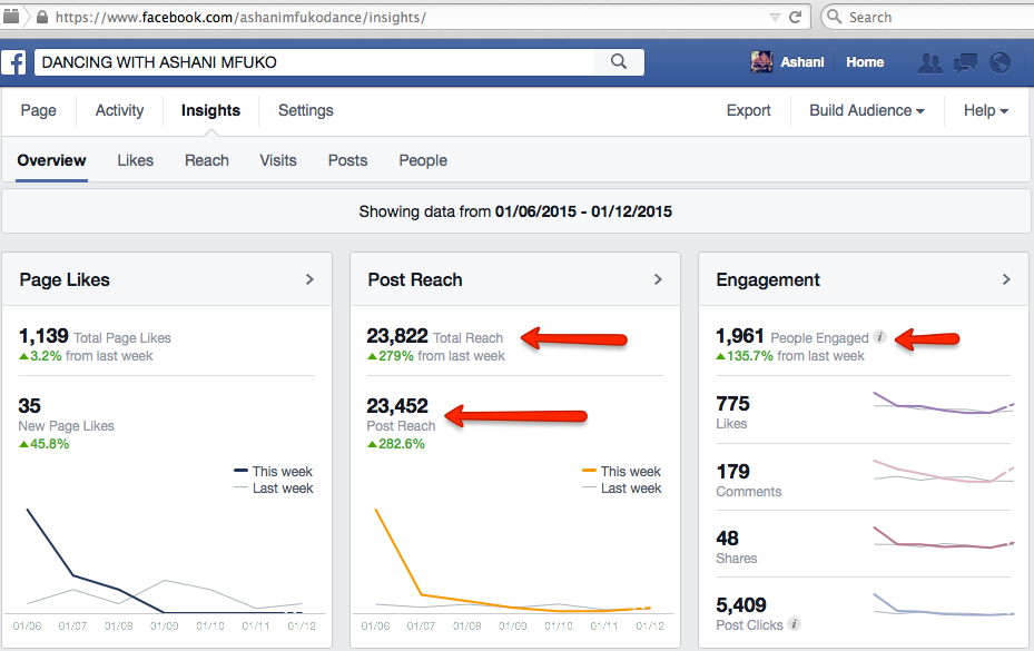 Ashani Mfuko Facebook Fan Page Insights 23,000