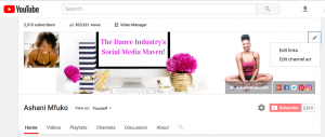 Ashani Mfuko YouTube Tips - How To Add Social Media Icons To Your Cover Photo