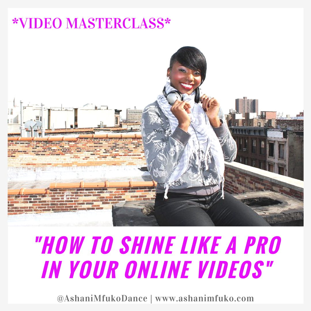 Learn how to look and sound professional, eloquent, energetic, yet naturally you, in your online videos!