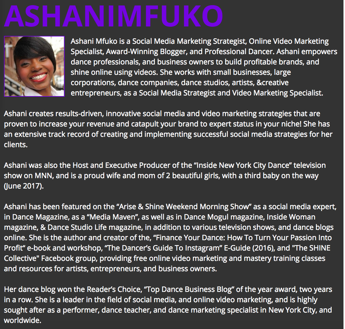 Meet Ashani Mfuko - Social Media Strategist, Video Marketing Specialist